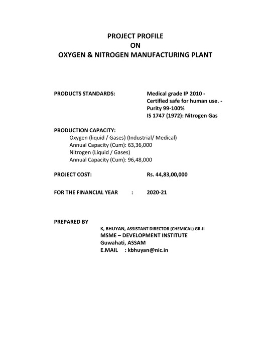 Medical Oxygen Plant Setup Cost in India
