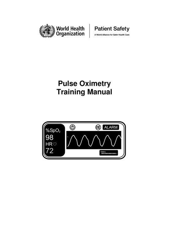 Pulse Oximeter Readings Chart