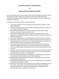 Kerala Lockdown New Guidelines April 2021