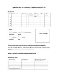 AP YSR Aarogyasri Health Card Application Form