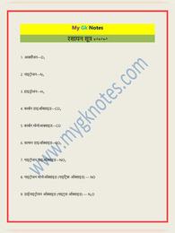 रासायनिक नाम और सूत्र   Chemical Formulas List for Class 10