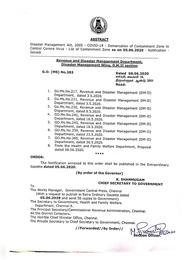 Chennai Corporation COVID-19 Containment Zone List 2021