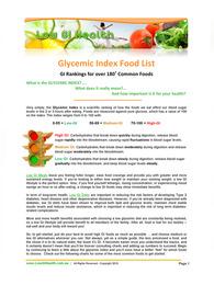 Low Glycemic Index Foods List