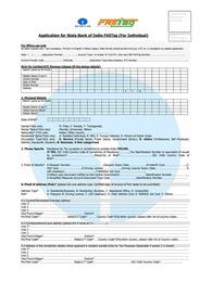 SBI Fastag Application Form