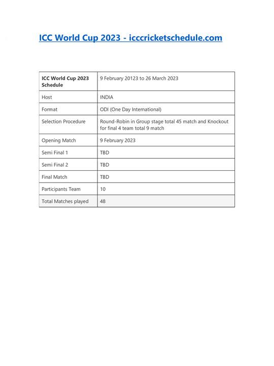 India World Test Championship 2021-2023 Schedule