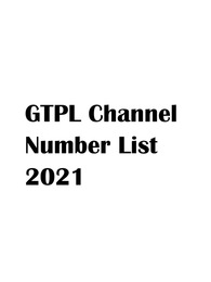 GTPL Channel Number List 2021