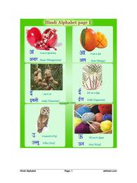 हिंदी वर्णमाला चार्ट विथ पिक्चर्स | Hindi Alphabets Chart with Pictures