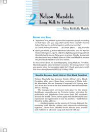 Nelson Mandela Long Walk to Freedom Class 10