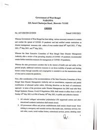 West Bengal Lockdown Guidelines/Notice
