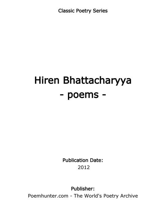 Hiren Bhattacharya Poems