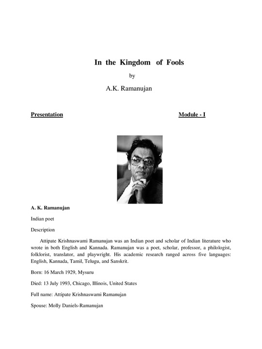 In the Kingdom of Fools
