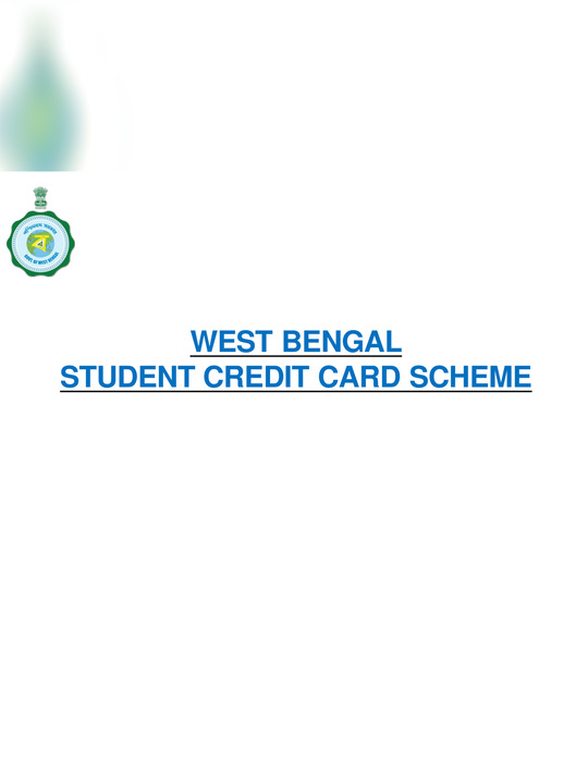 West Bengal Student Credit Card Application Guideline