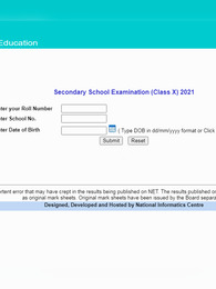 cbseresults.nic.in CBSE Class 10th Result 2021