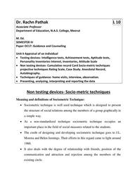 Four Uses of Sociometric Techniques