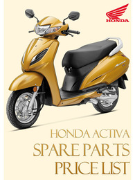 Honda Activa Spare Parts Price List 2021
