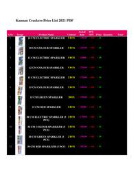 Kannan Crackers Price List 2021