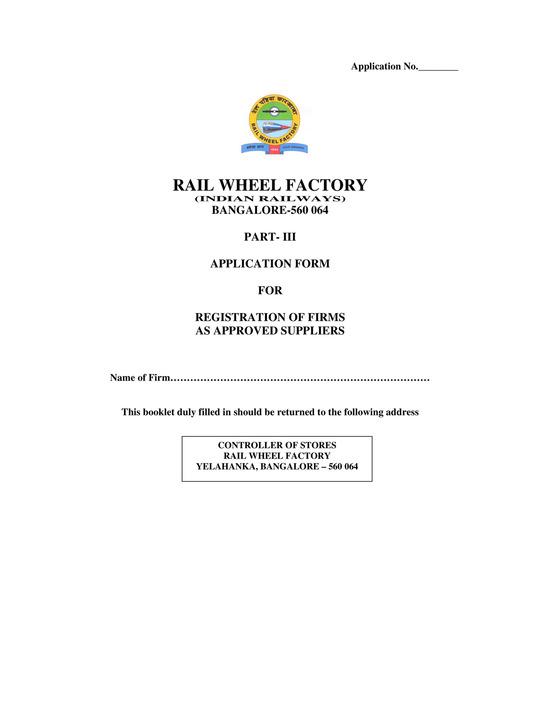 www.rwf.indianrailways.gov.in RWF Recruitment 2021 Application Form