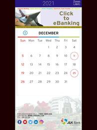 JK Bank Calendar 2021