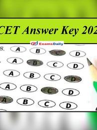 kea.kar.nic.in – KCET Answer Key 2021