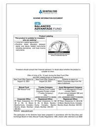 SBI Balanced Advantage Fund NFO