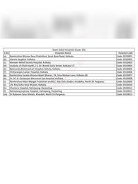 West Bengal Health Scheme Hospitals List 2021