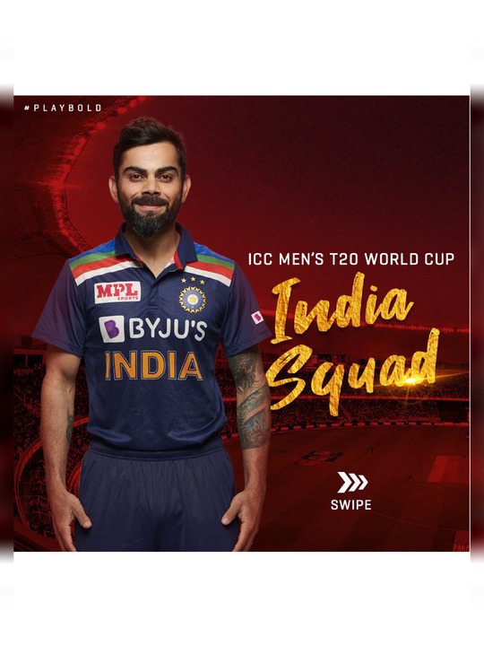 T20 World Cup 2021 Team India Squad