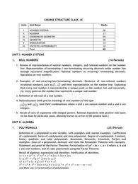 CBSE Class 9 Syllabus 2021-22