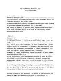 CNT Act 1908 in Hindi