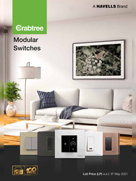 Crabtree Modular Switches Price List 2021