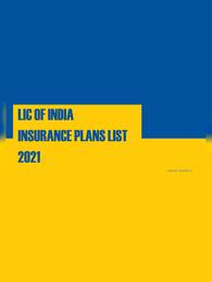 LIC New Plans 2021 List