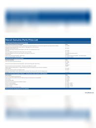 Maruti Genuine Parts Price List 2021