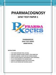 Pharmacognosy MCQs with Answers
