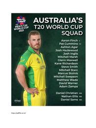 T20 World Cup 2021 Australia Team Squad