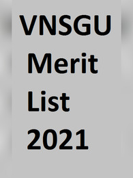 VNSGU Merit List 2021