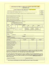 Navodaya Form 2021