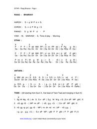 Raag Bhairavi Alap Notation