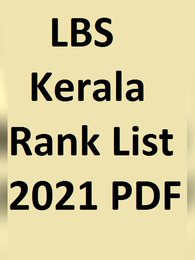 www.lbscentre.kerala.gov.in LBS Kerala Rank List 2021
