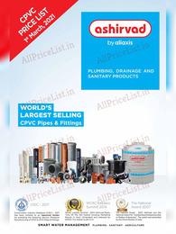 Ashirvad CPVC Pipe Price List 2021